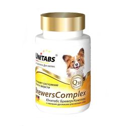 Кормовая добавка для собак мелких пород Unitabs Brewers Complex Юнитабс Бреверс комплекс с пивными дрожжами, 100 таблеток