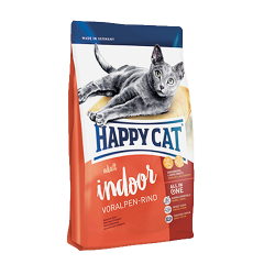 Сухой корм для кошек Happy Cat Supreme Indoor с альпийской говядиной