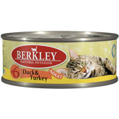 Консервы для кошек Berkley #6 Duck & Turkey Adult утка с индейкой 0,1 кг