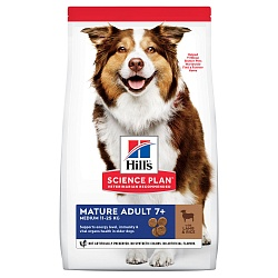 Сухой корм для пожилых собак Hill's Science Plan Canine Mature Adult 7+ Active Longevity ягненок, рис